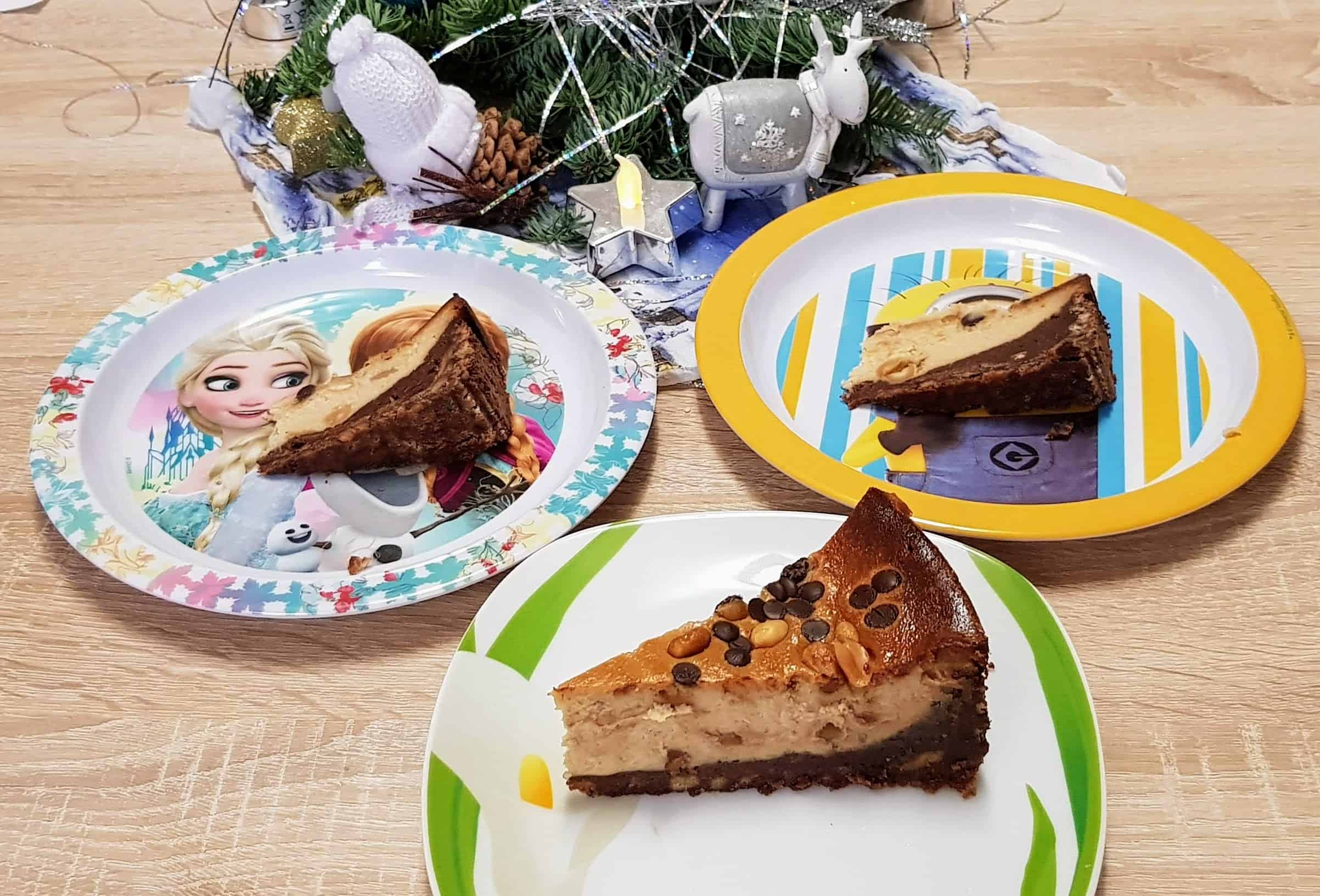 Erdnussbutter - Käsekuchen mit Schokoladenfüllung 9