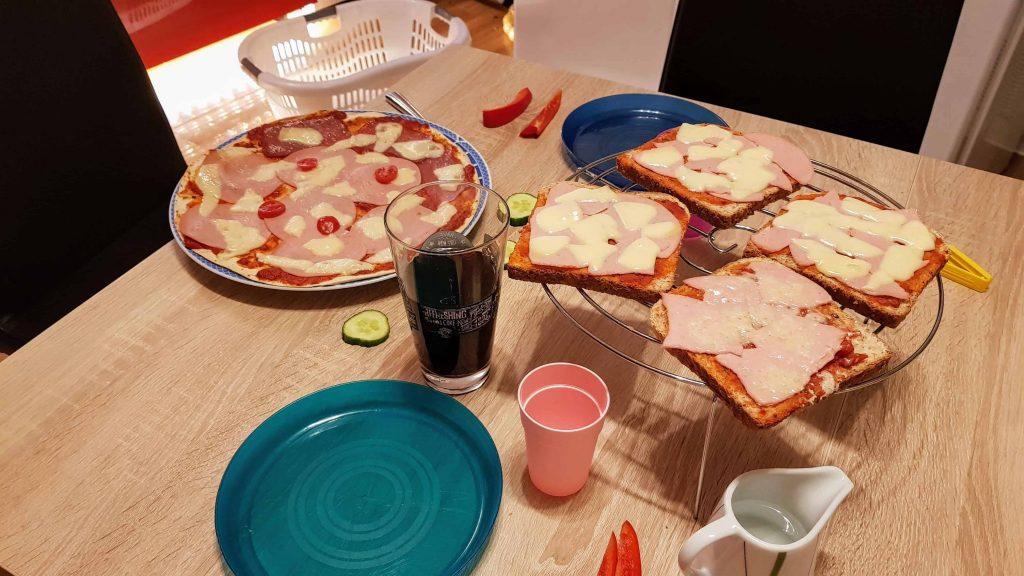 Familienpizza unterm dreck ists sauber